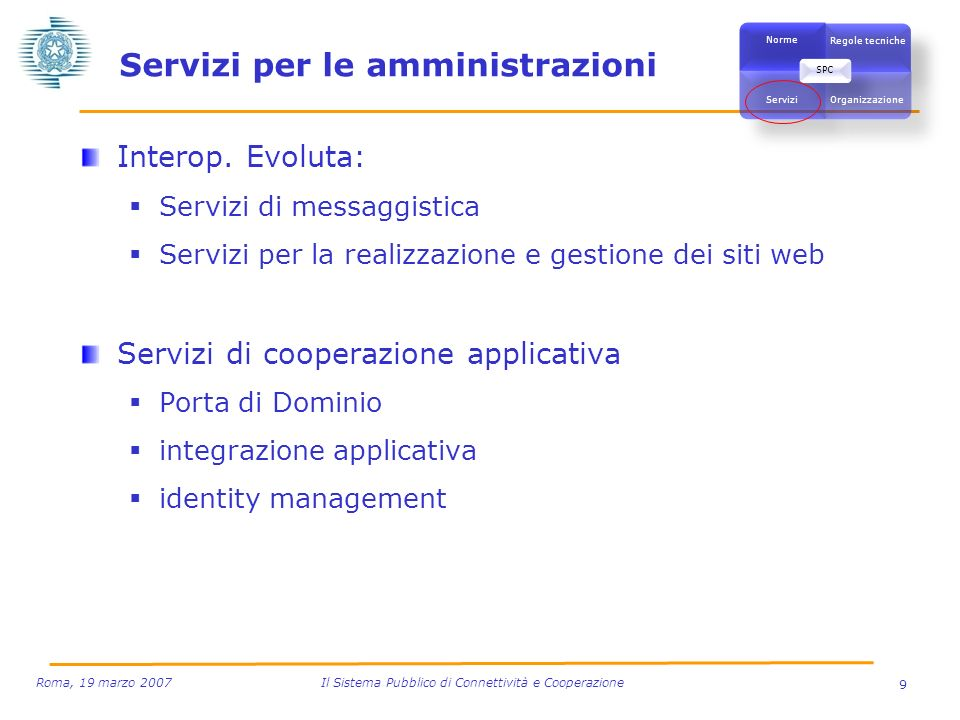 Servizi per le amministrazioni