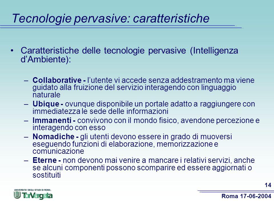 Tecnologie pervasive: caratteristiche