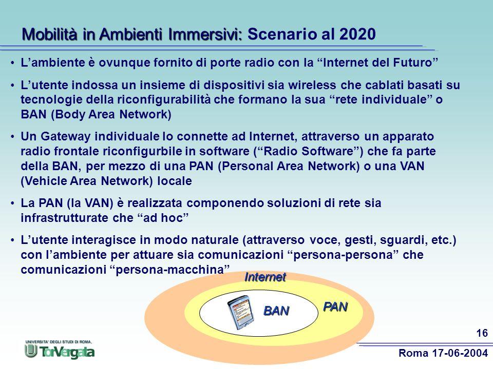 Mobilità in Ambienti Immersivi: Scenario al 2020