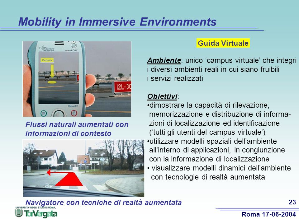 Mobility in Immersive Environments