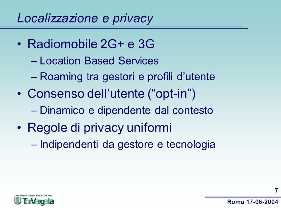 Localizzazione e privacy