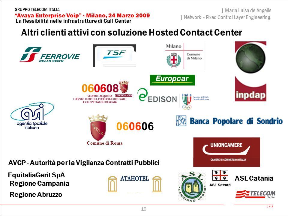 060606 Altri clienti attivi con soluzione Hosted Contact Center