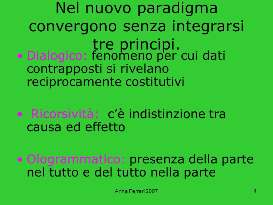 Nel nuovo paradigma convergono senza integrarsi tre principi.