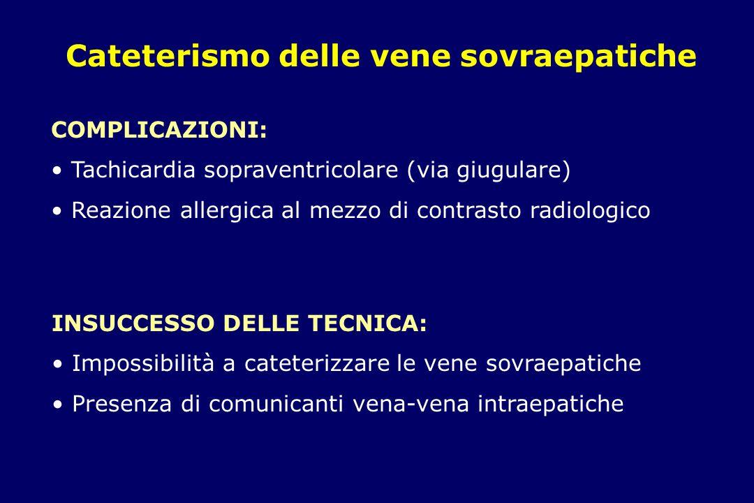 Cateterismo delle vene sovraepatiche