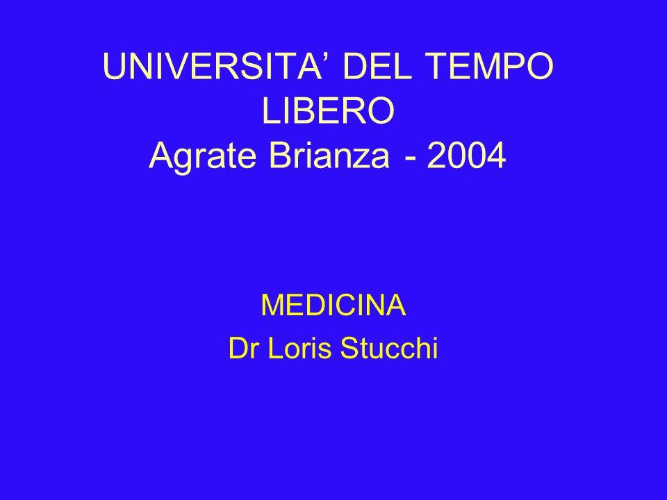 UNIVERSITA' DEL TEMPO LIBERO Agrate Brianza - 2004