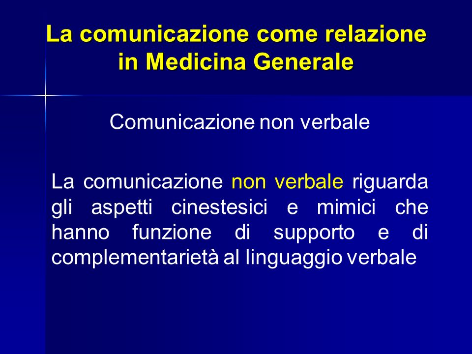 La comunicazione come relazione in Medicina Generale