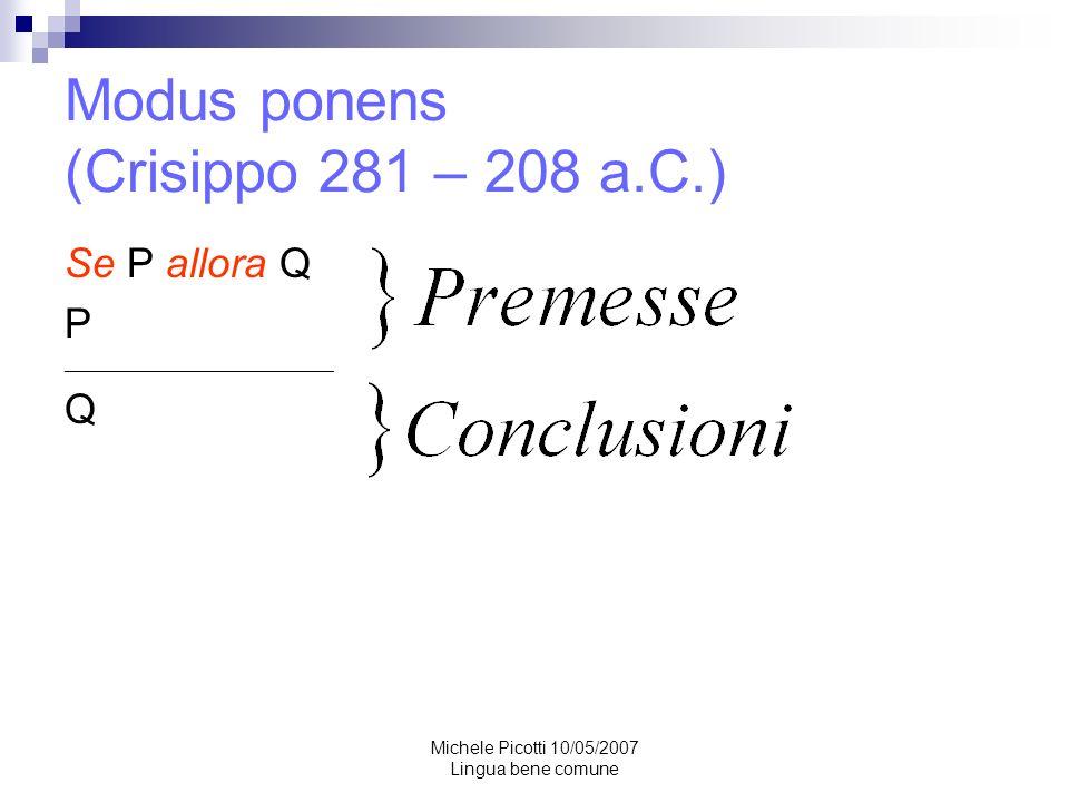 Modus ponens (Crisippo 281 – 208 a.C.)