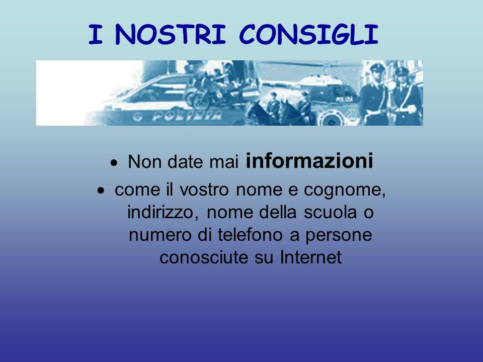 Non date mai informazioni
