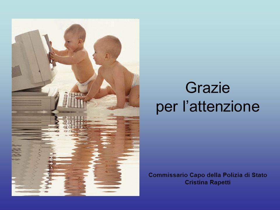 Grazie per l'attenzione Commissario Capo della Polizia di Stato Cristina Rapetti