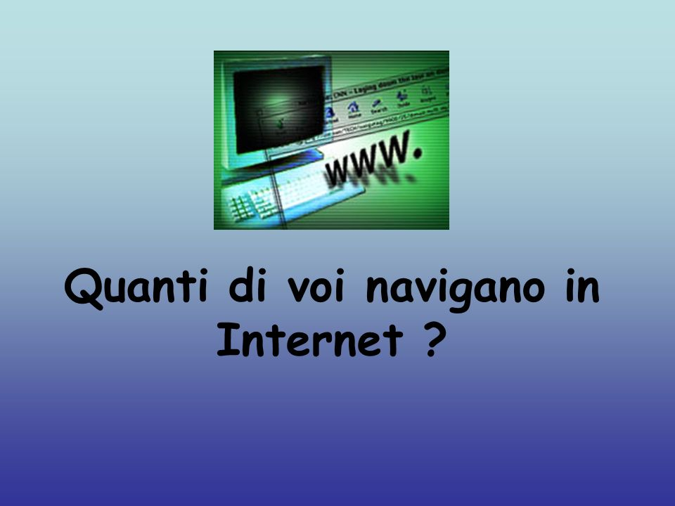 Quanti di voi navigano in Internet