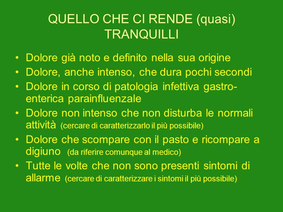 QUELLO CHE CI RENDE (quasi) TRANQUILLI