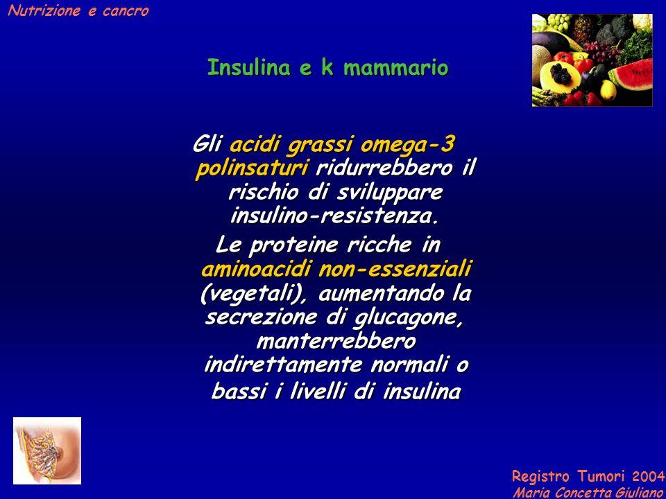 Insulina e k mammario Gli acidi grassi omega-3 polinsaturi ridurrebbero il rischio di sviluppare insulino-resistenza.