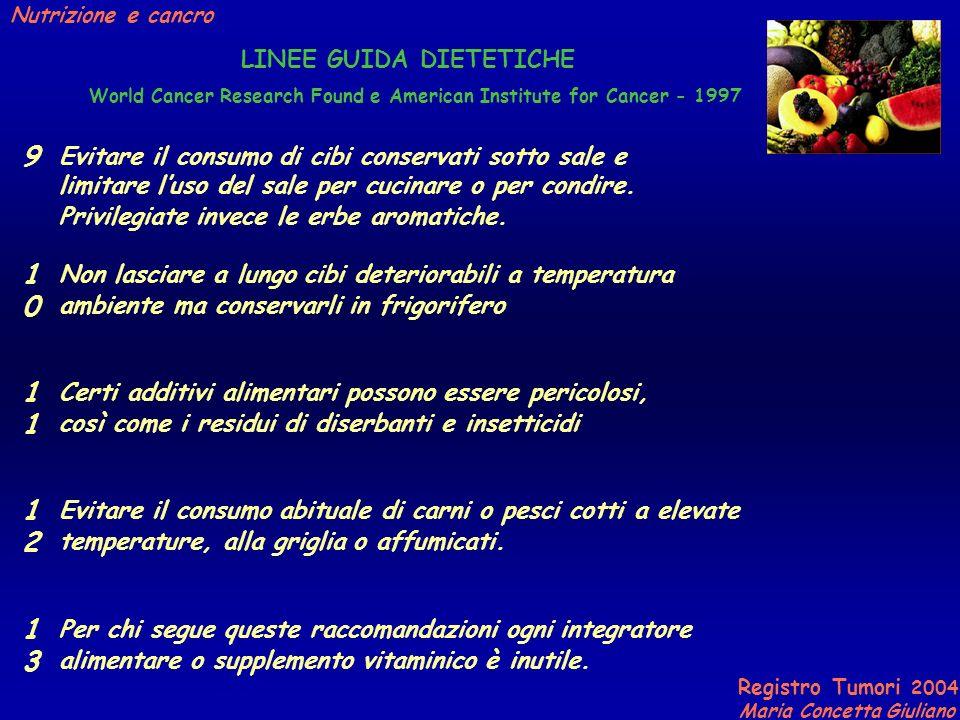 LINEE GUIDA DIETETICHE