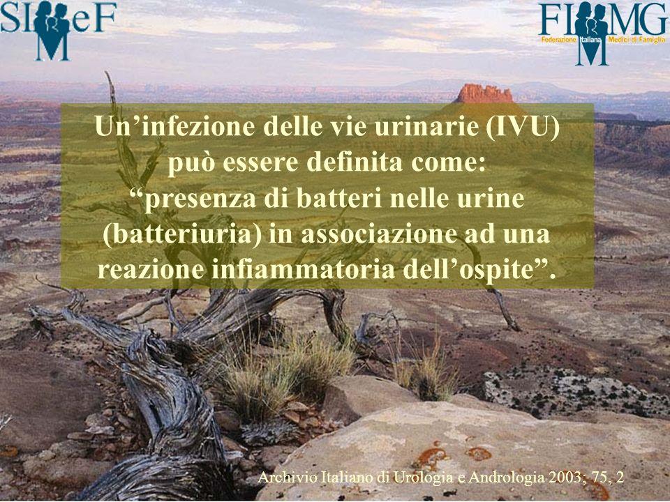 Un'infezione delle vie urinarie (IVU) può essere definita come: