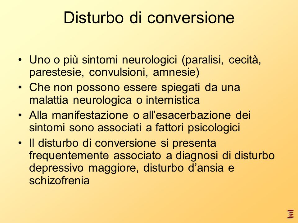 Disturbo di conversione