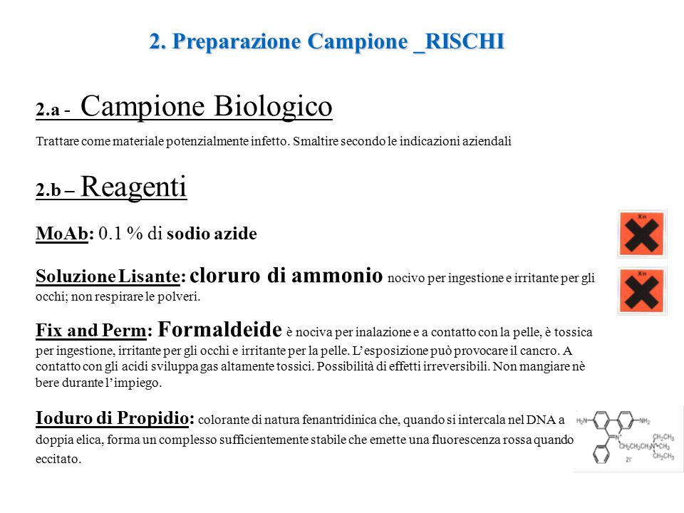 2. Preparazione Campione _RISCHI