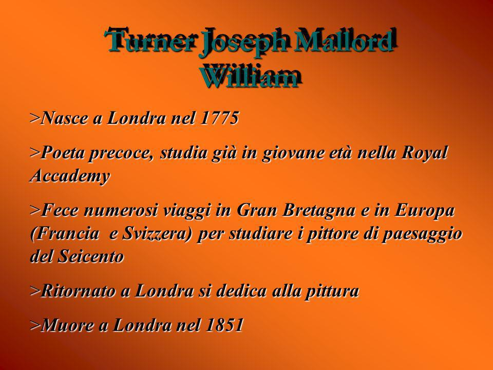 Turner Joseph Mallord William