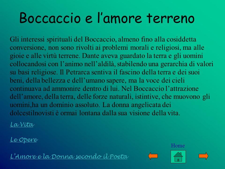 Boccaccio e l'amore terreno