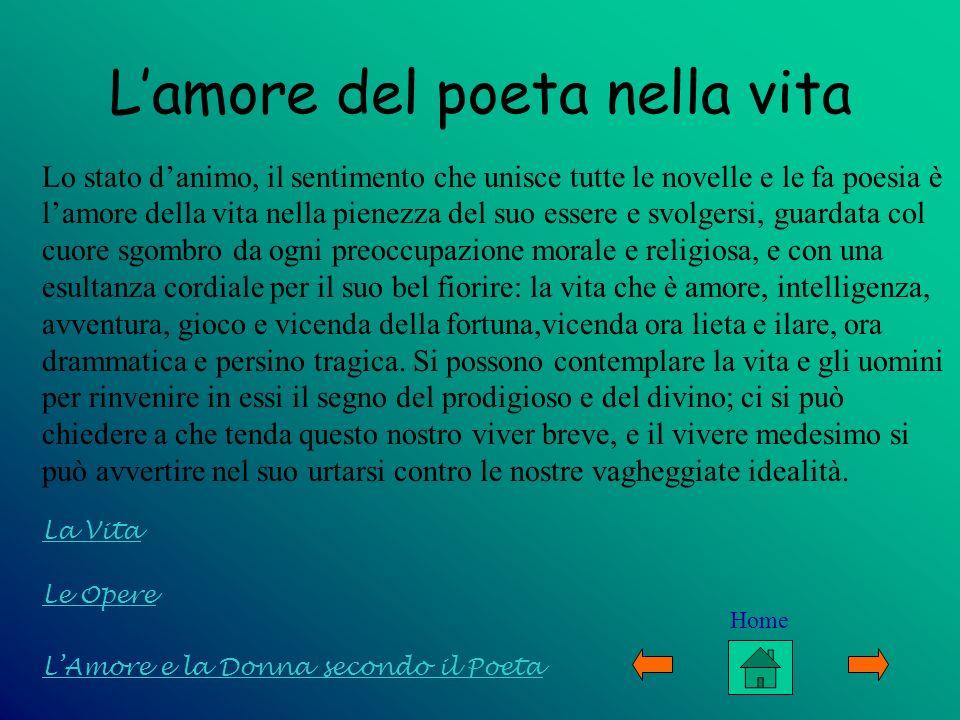 L'amore del poeta nella vita