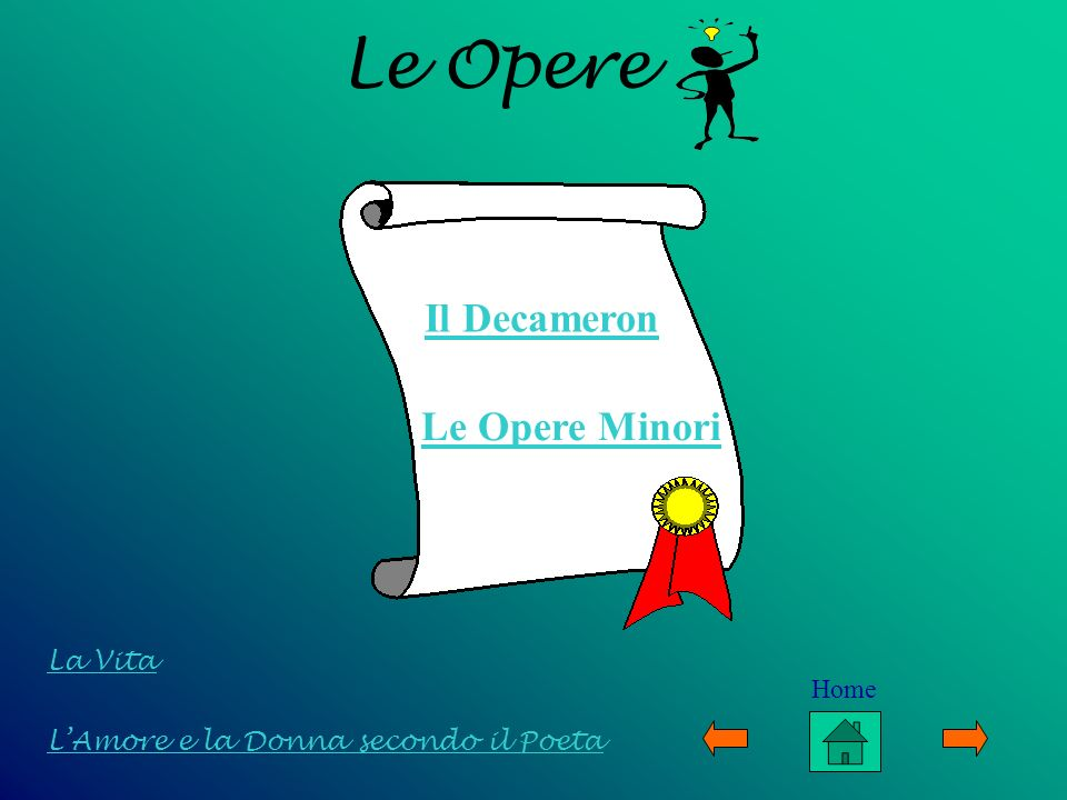 Le Opere Il Decameron Le Opere Minori La Vita Home
