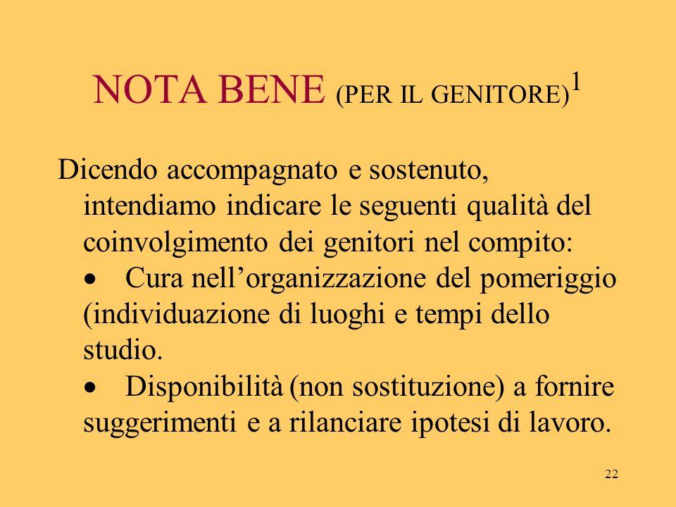 NOTA BENE (PER IL GENITORE)1