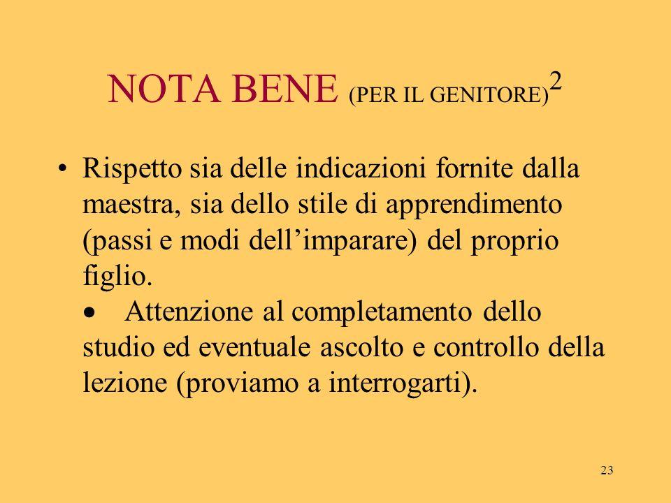 NOTA BENE (PER IL GENITORE)2