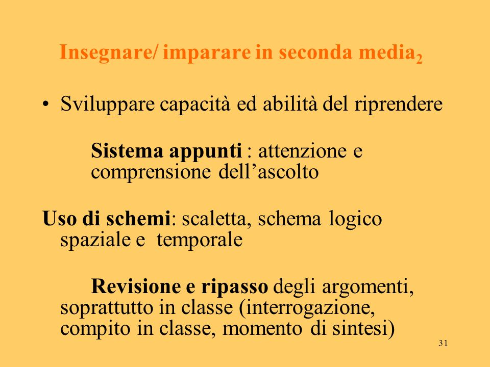 Insegnare/ imparare in seconda media2