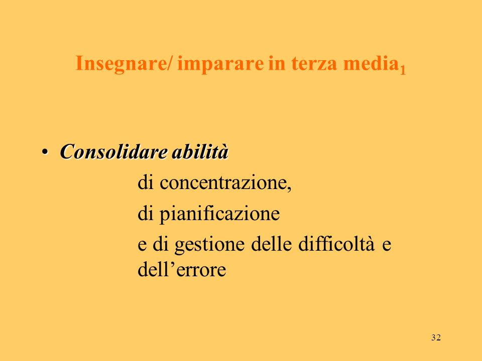 Insegnare/ imparare in terza media1