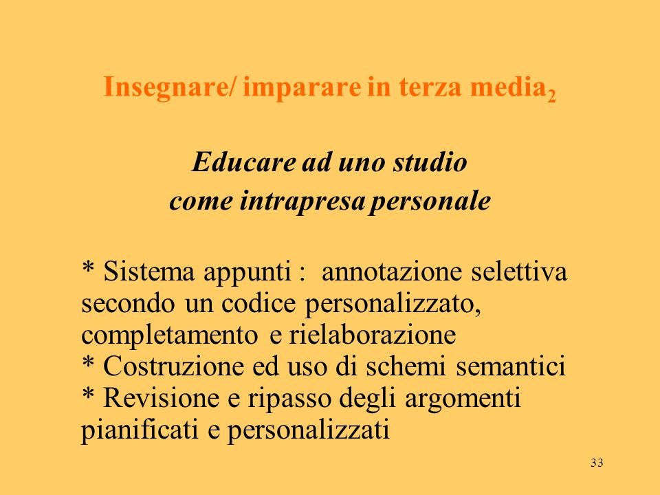 Insegnare/ imparare in terza media2