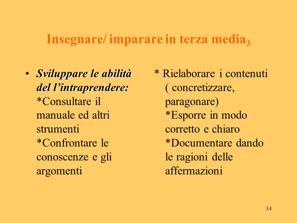 Insegnare/ imparare in terza media3