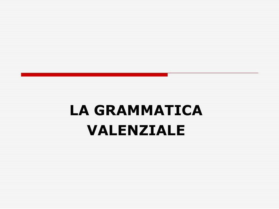 LA GRAMMATICA VALENZIALE