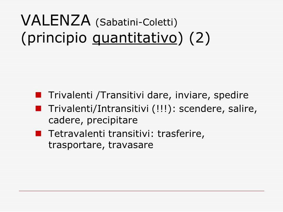 VALENZA (Sabatini-Coletti) (principio quantitativo) (2)