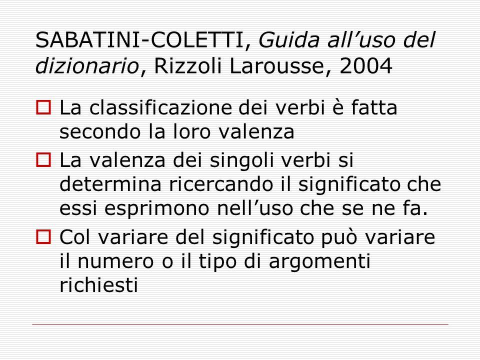 SABATINI-COLETTI, Guida all'uso del dizionario, Rizzoli Larousse, 2004