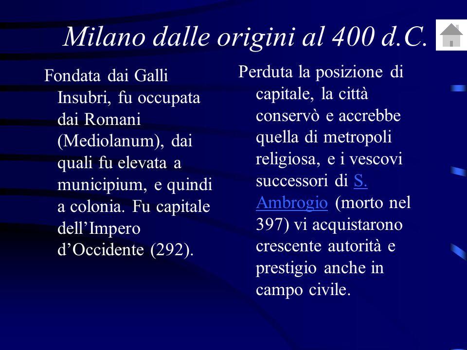 Milano dalle origini al 400 d.C.