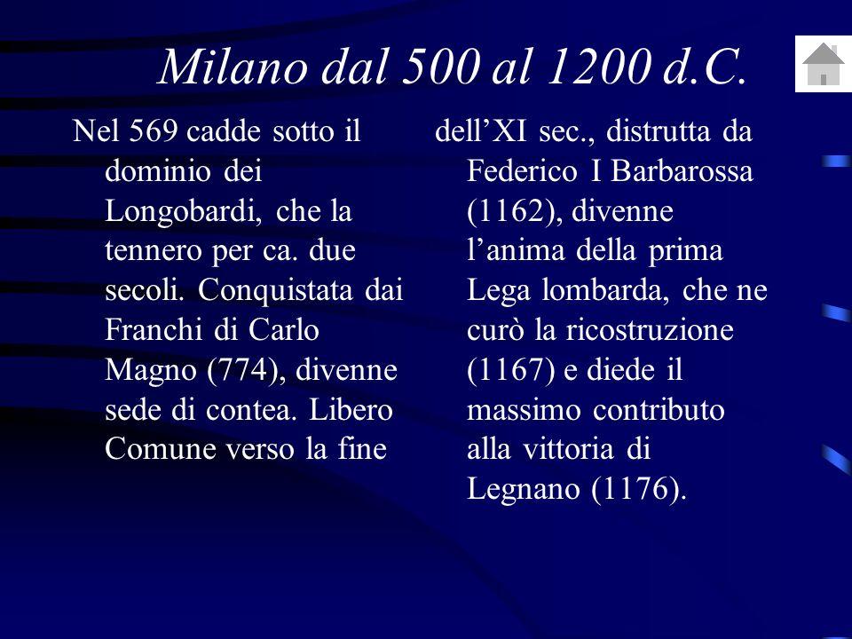 Milano dal 500 al 1200 d.C.