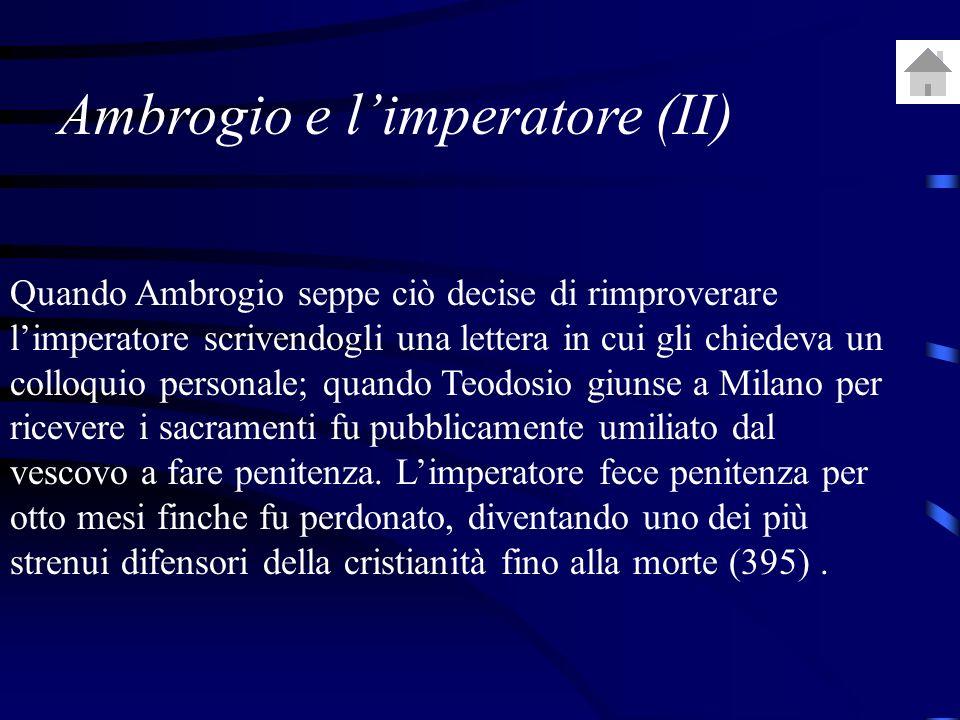 Ambrogio e l'imperatore (II)