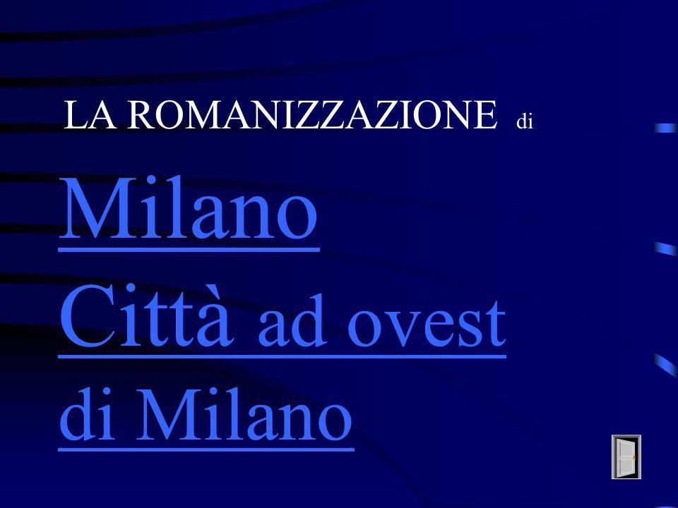 Città ad ovest di Milano