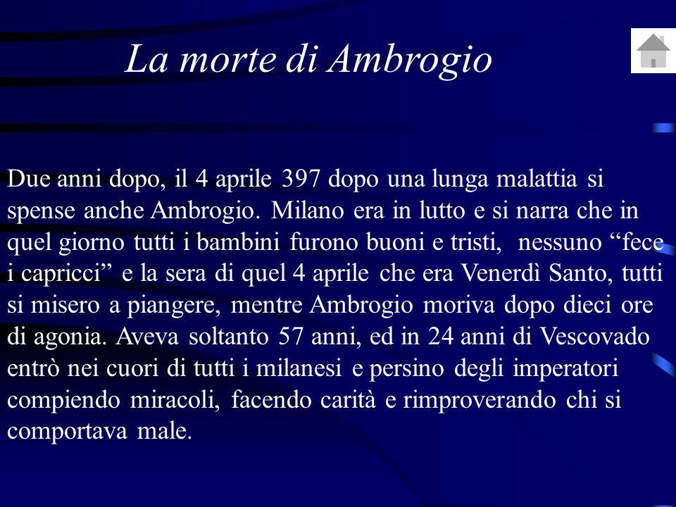 La morte di Ambrogio