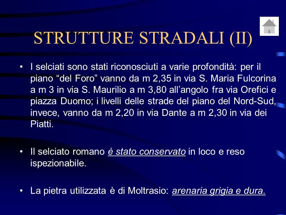 STRUTTURE STRADALI (II)