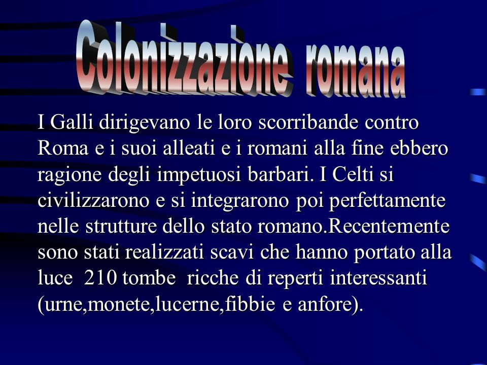 Colonizzazione romana