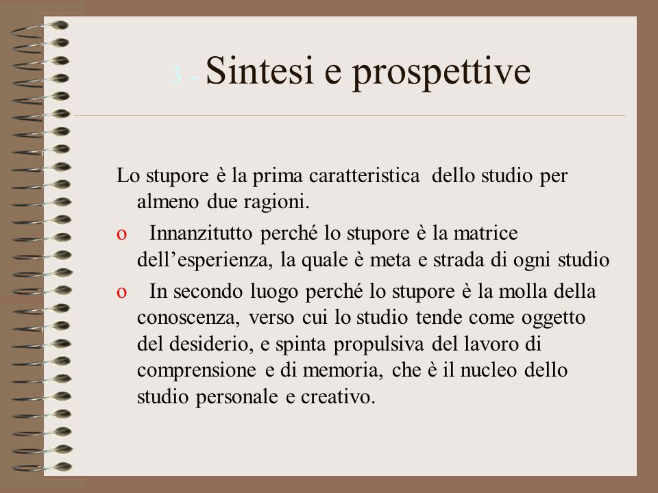 3 - Sintesi e prospettive