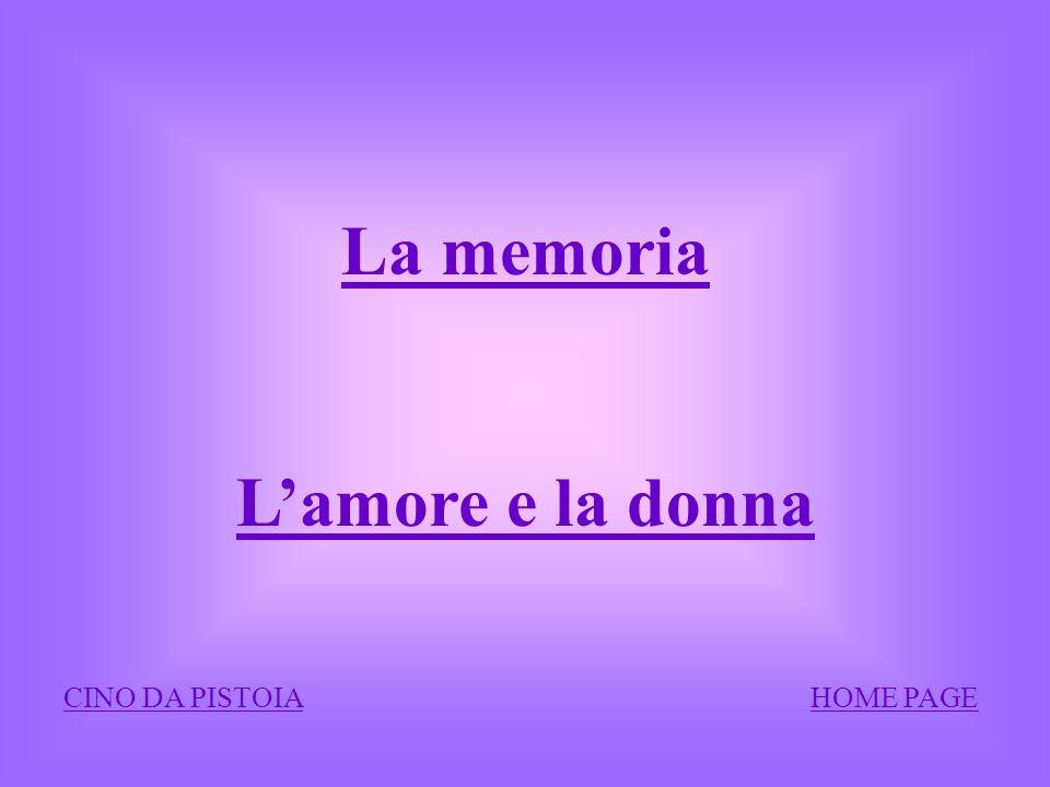 La memoria L'amore e la donna