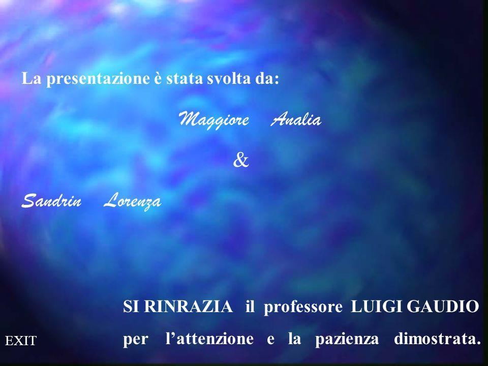 Maggiore Analia & Sandrin Lorenza La presentazione è stata svolta da: