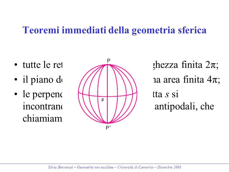 Teoremi immediati della geometria sferica
