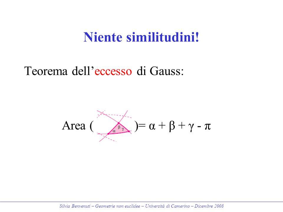 Niente similitudini! Teorema dell'eccesso di Gauss: