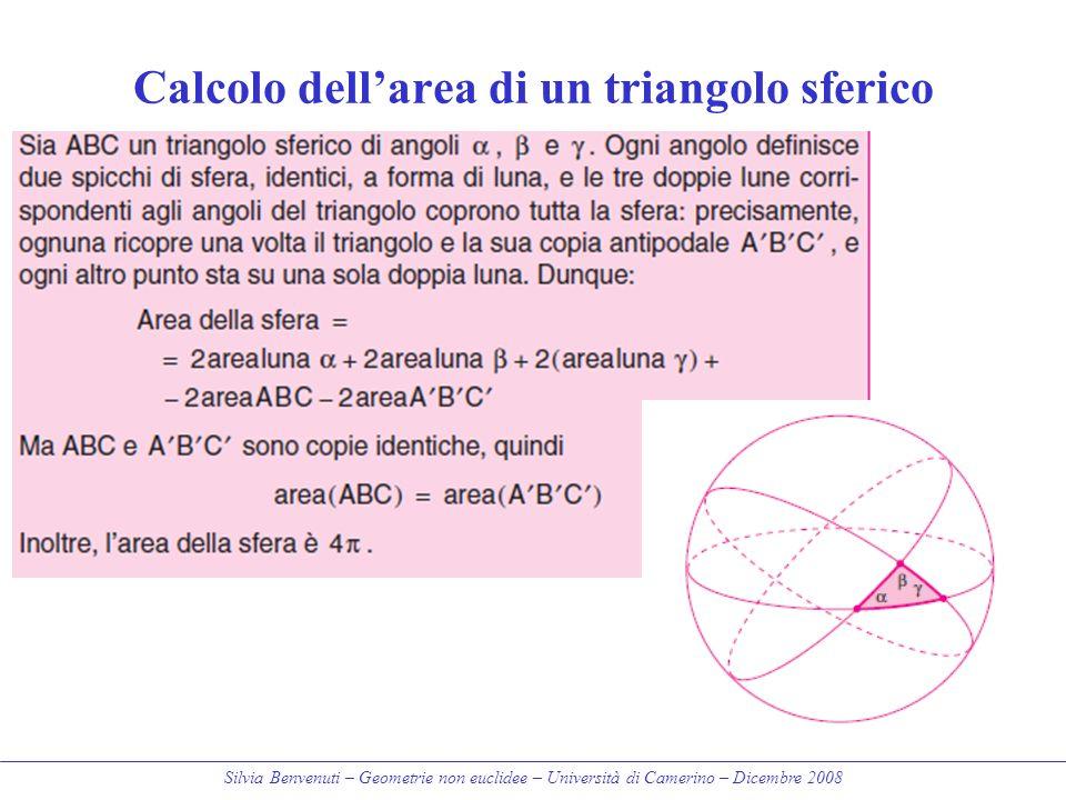Calcolo dell'area di un triangolo sferico