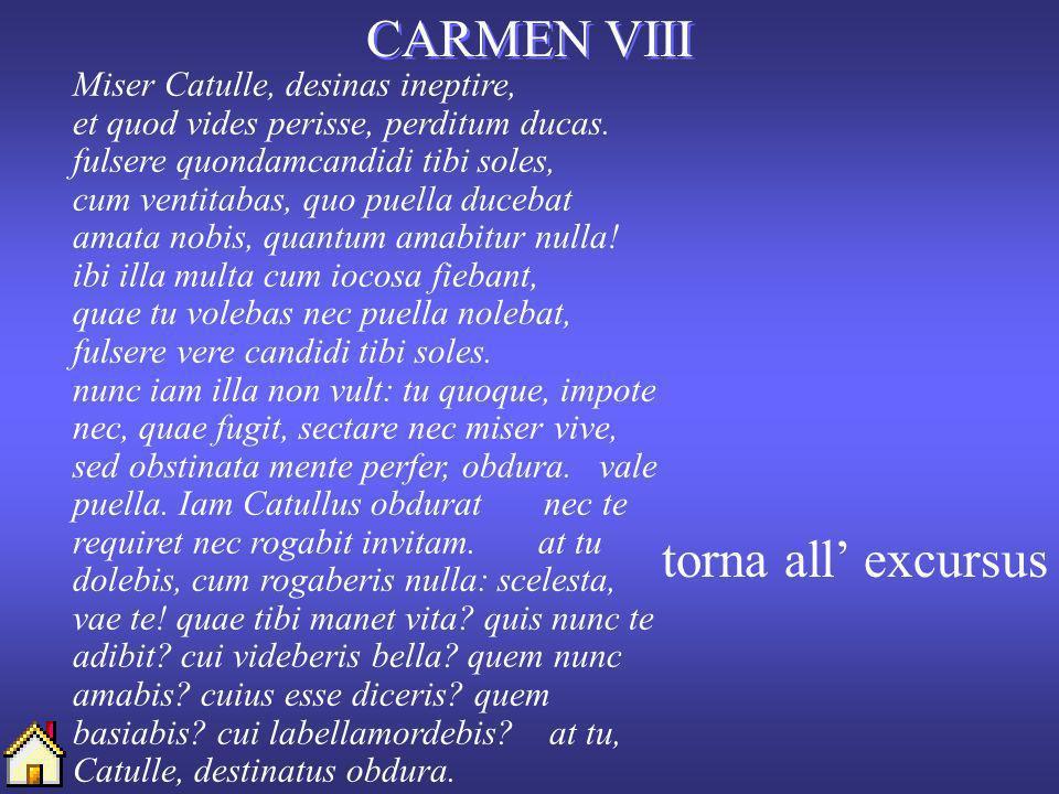 CARMEN VIII torna all' excursus