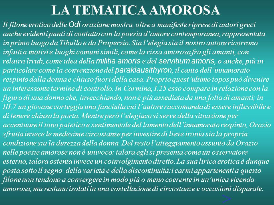 > LA TEMATICA AMOROSA