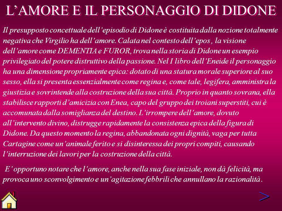 L'AMORE E IL PERSONAGGIO DI DIDONE