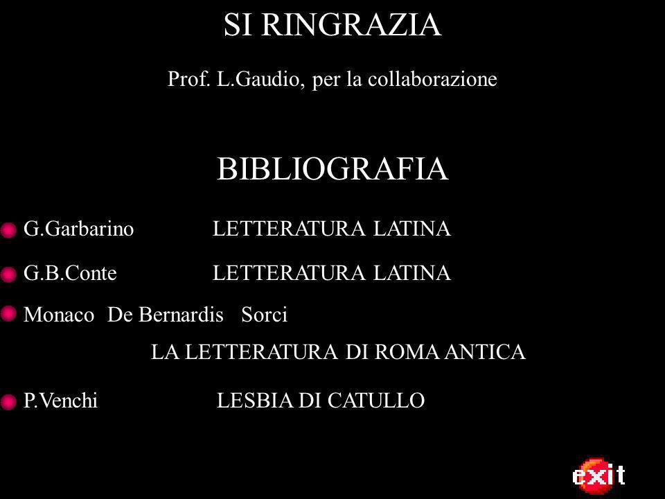 Prof. L.Gaudio, per la collaborazione